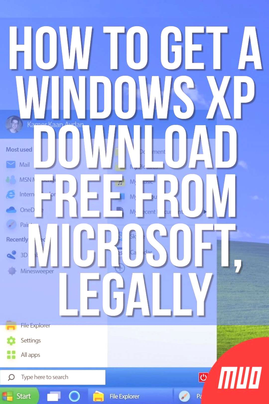 — Technology, Simplified — Want a free Windows XP downloaded from Microsoft? It's possible