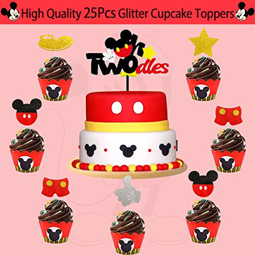 2nd Mickey Mouse Birthday Party Supplies Decorations 57Pcs -