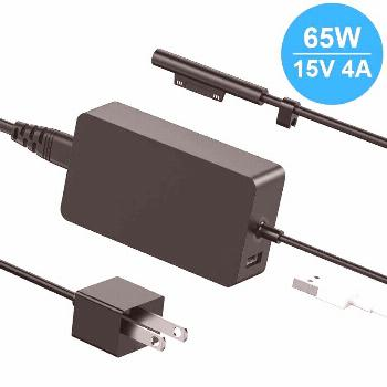 65W Charger for Microsoft Surface Pro 7 6 5 4 3 1625 Tablet 15V 4A Adapter w/USB  - Microsoft - Ide