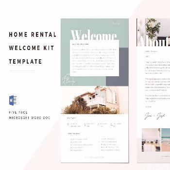 Airbnb Welcome Book Template ,