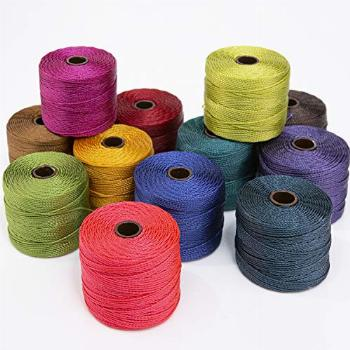 Beadsmith S-Lon #18 Cord, Multipack with 12 Spools