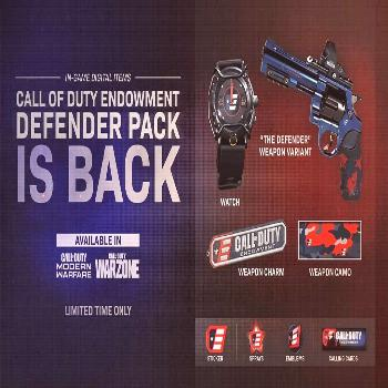 Call Of Duty Endowment pack is back in the store on Modern Warfare. Money raised goes directly to v