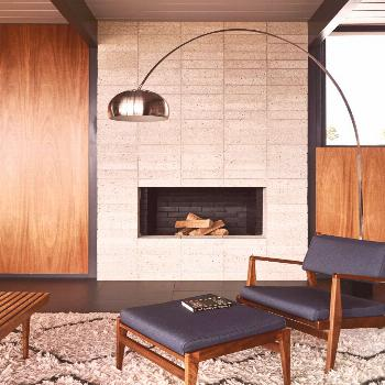 Eclectic decor   mid century fireplace, mid century bedroom, mid century office, mid century modern