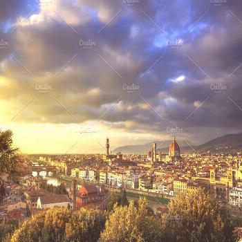 Florence panorama at sunset. Italy. | Stock Photo | © StevanZZ | @stevanzzphoto | Creative Market