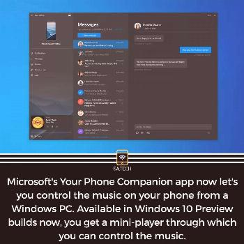How many of you here use the Microsoft's Your Phone Companion app? . . Follow @saiabhijat.tech for