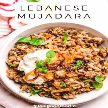Lebanese Mujadara Mujadara is a traditional Middle Eastern recipe that's made with three ingredient