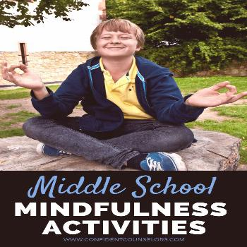 Looking for middle school mindfulness activities for your classroom guidance lessons or small group