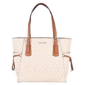 MICHAEL Michael Kors Grained Leather Voyager Tote Bag  - B99 Vanilla150