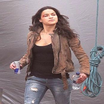 Michelle Rodriguez Furious 7 Leather Jacket : , Leather Jeans   Jackets   Suits