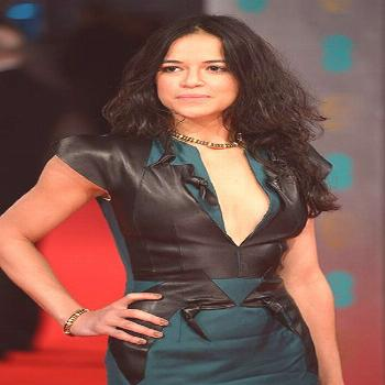 Michelle Rodriguez Green and Black Dress - Nice Celebrity