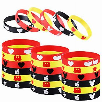 Mickey Mouse Party Favor, 24Pcs Mickey Themed Party Silicone
