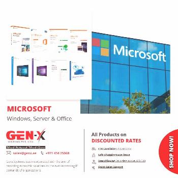 Microsoft Software & Subscription   Ms office, Windows 10, Server 2016   Genx System Make your work