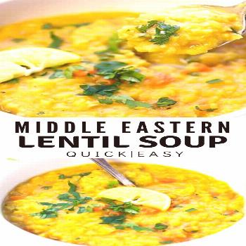 MIDDLE EASTERN LENTIL SOUP Middle Eastern Lentil Soup Recipe – just a few basic ingredients to ma