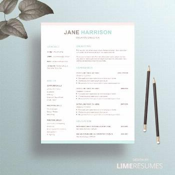 Professional resume template with cover letter and reference page for Microsoft ... -