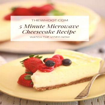The Most Delicious 5 Minute Microwave Cheesecake Recipe