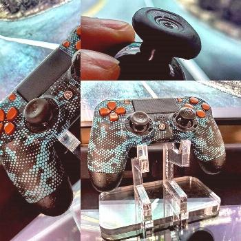 The Scuf sticks offer amazing grip, but be prepared to change them often. I run them offset, short