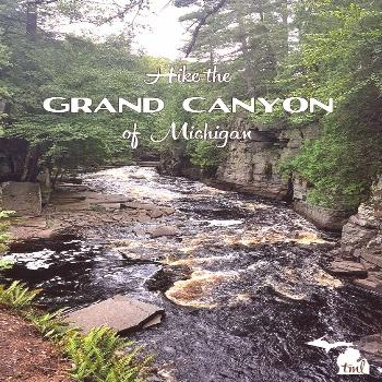 Upper Peninsula hike to Canyon Falls in the Sturgeon River Gorge. This is one of the most beautiful