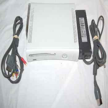 Xbox 360 console 20GB Hard Drive Video & Power Cord Tested & Working