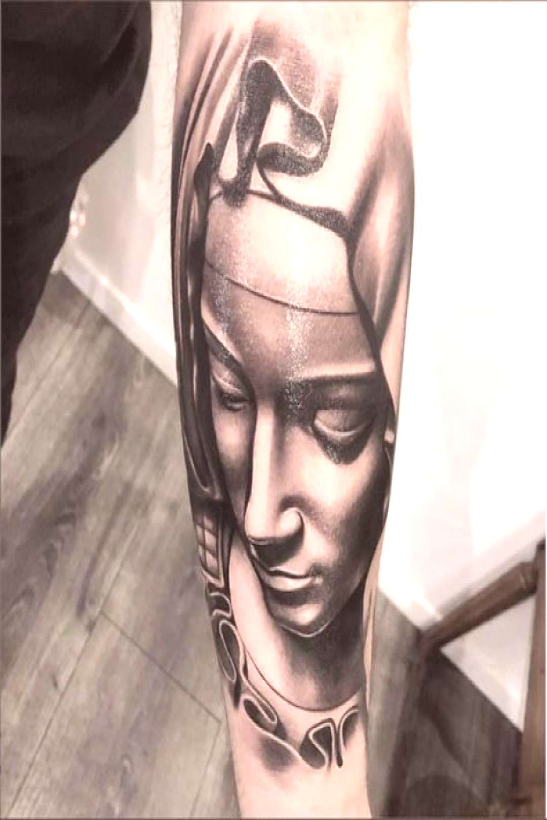 Amazing artist Sneaky Gee @sneakygee13tattoos awesome Michelangelo Virgin Mary arm tattoo!