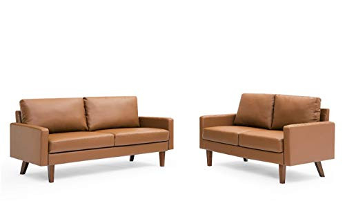 Container Furniture Direct Pantaleon Mid Century Modern Faux