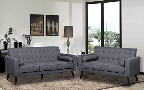 Container Furniture Direct S5300-L Valadez Linen Upholstered