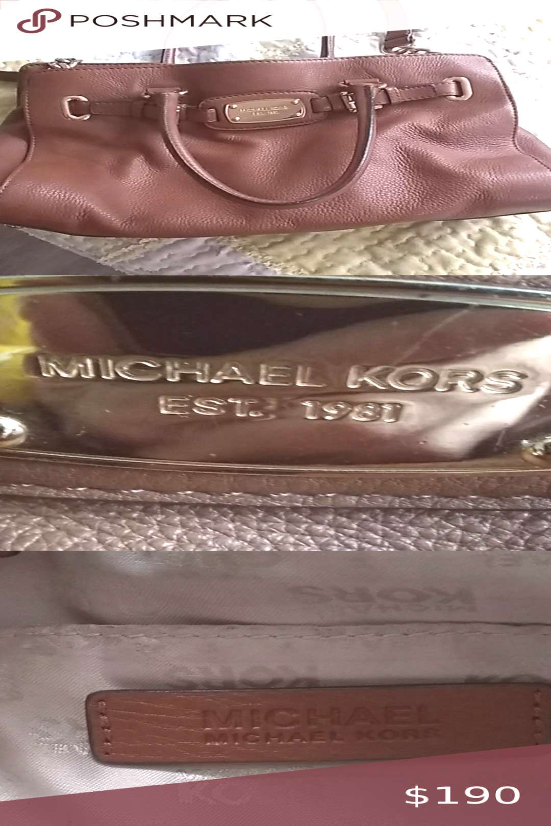 Michael Kors handbag Michael Kors tote style with chain strap. Beautiful! Sturdy and durable. Mich