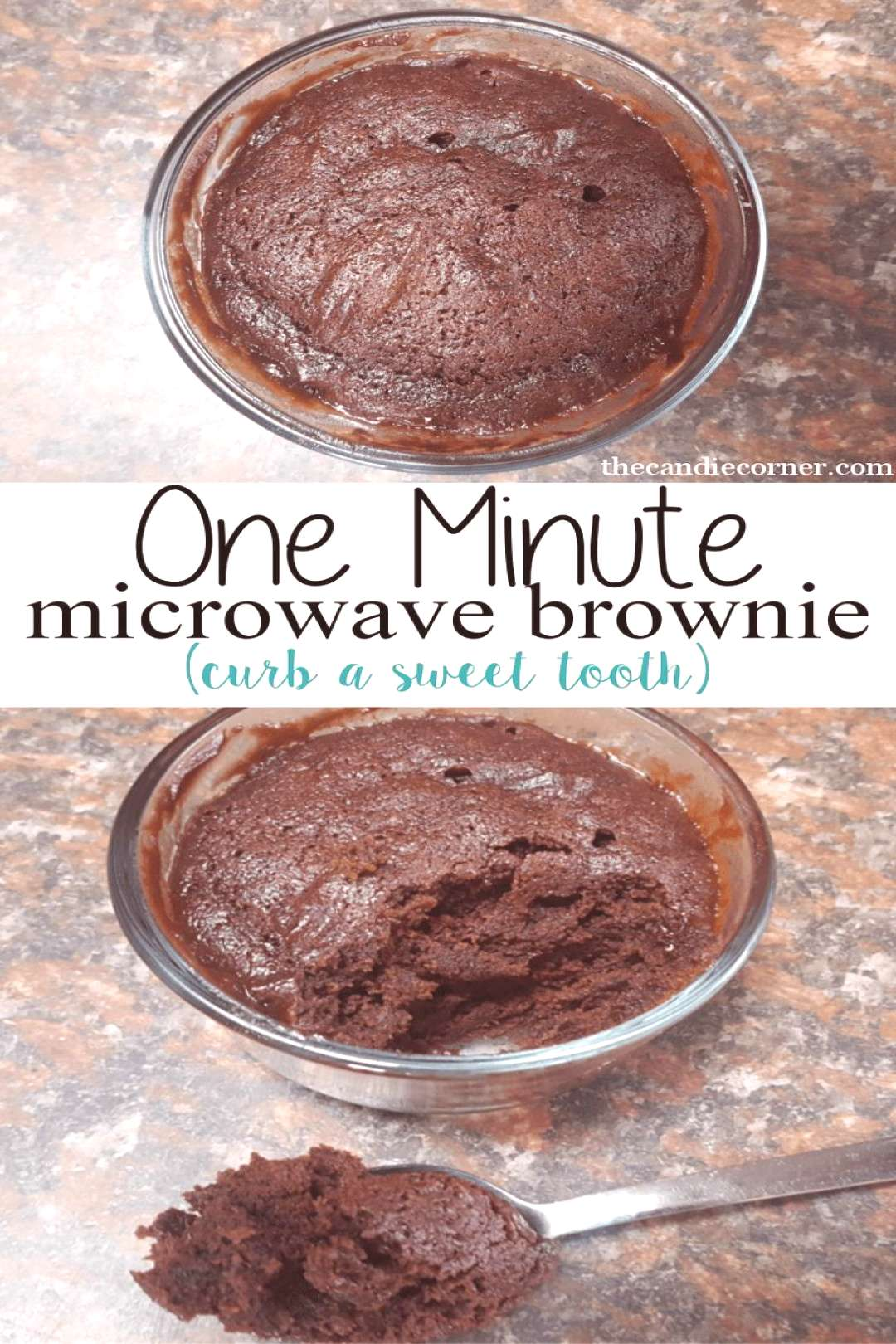 One minute microwave brownie. How to curb a sweet tooth easily.