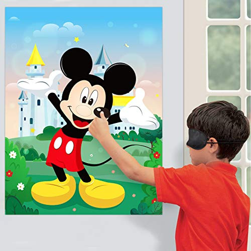 PANTIDE Pin The Nose and Mouth on Mickey Mouse Party Games
